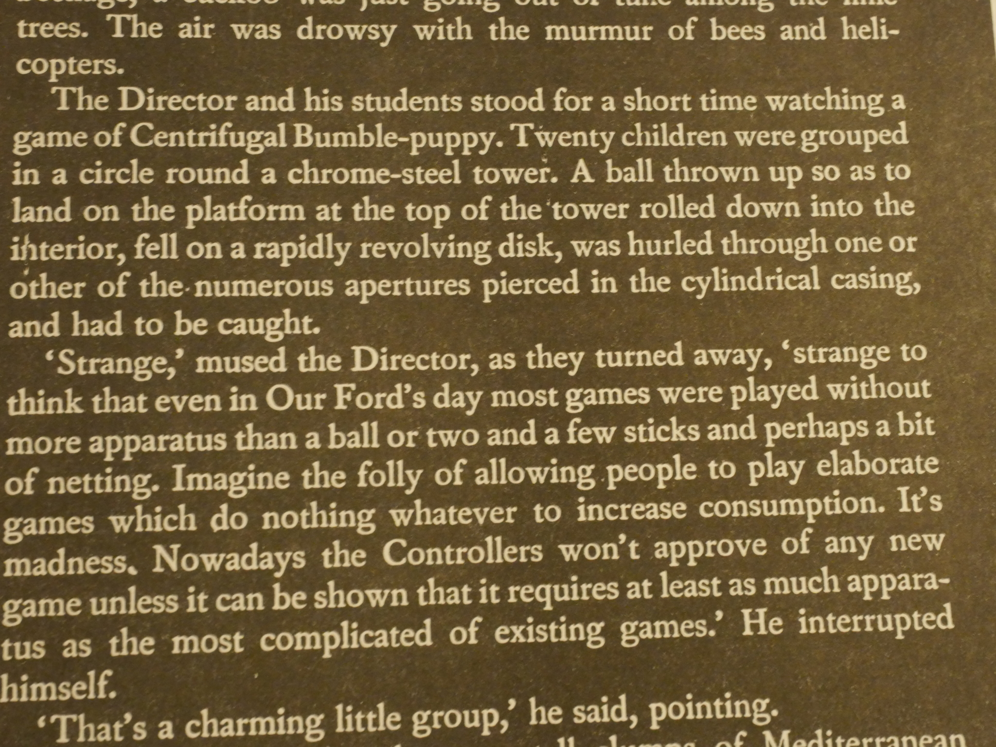 ff1986 honk random thoughts in the fifth issue sacco announces that the magazine will change its to centrifugal bumble puppy from brave new world by aldous huxley because er